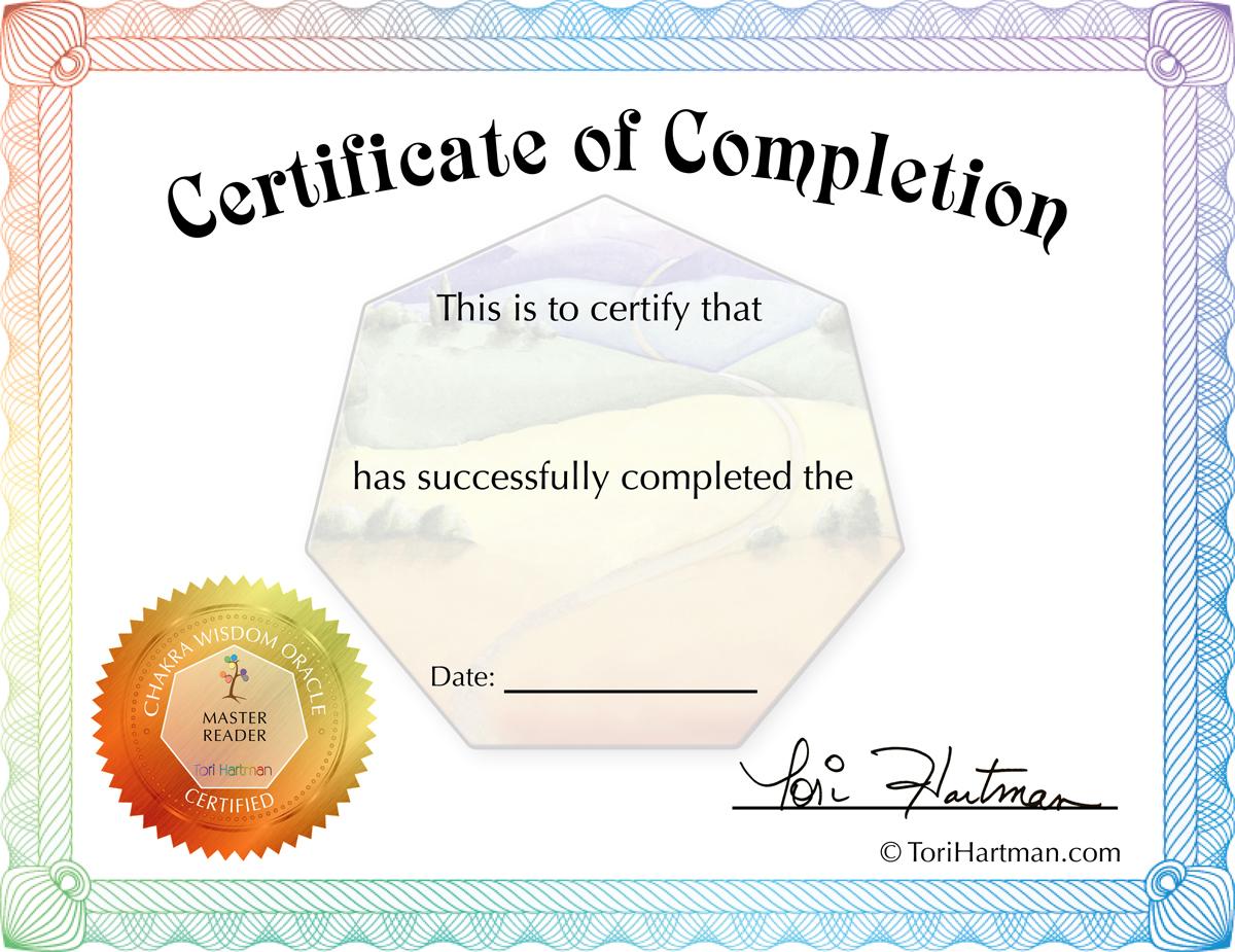 certificate interpreter blank reader certification