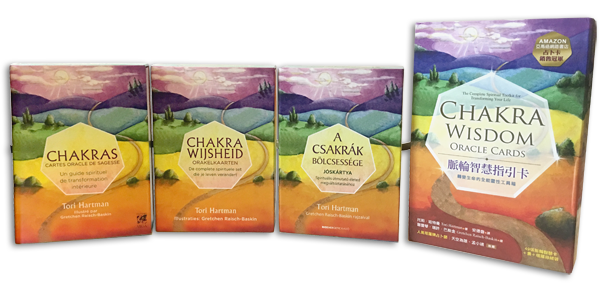 oracle cards boxes in different languages